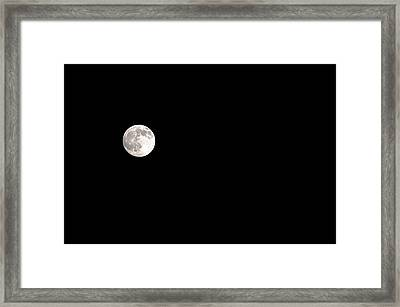 The Moon Framed Print by Clayton Bruster