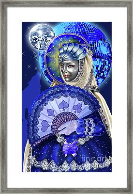 The Moon From Venetian Carnival Tarot Framed Print