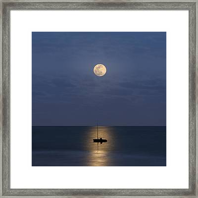 The Moon Guide Us Framed Print