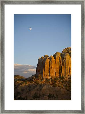 The Moon Is Seen During The Day Framed Print by Ralph Lee Hopkins