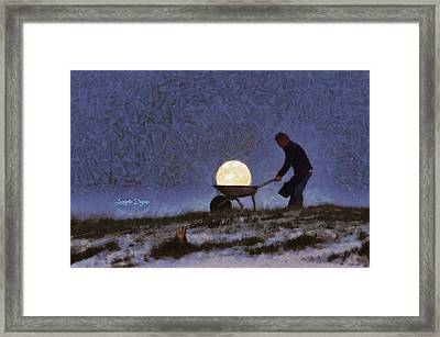 The Moon Keeper - 1 Of 7 Framed Print by Leonardo Digenio