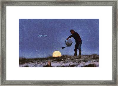 The Moon Keeper - 2 Of 7 Framed Print by Leonardo Digenio