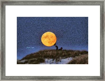 The Moon Keeper - 6 Of 7 Framed Print