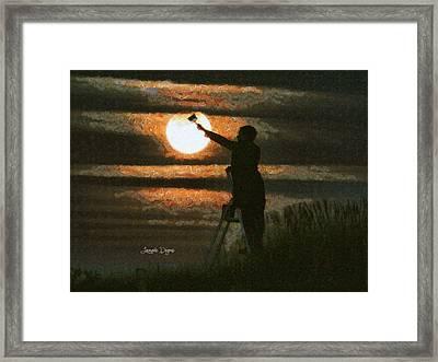 The Moon Keeper - 7 Of 7 - Da Framed Print by Leonardo Digenio