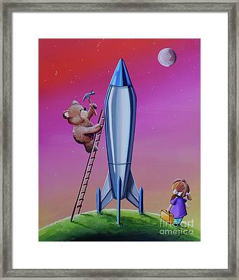 The Moon Mission Framed Print by Cindy Thornton