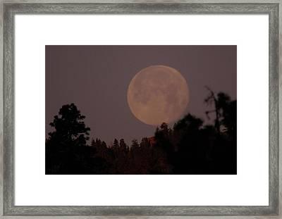The Moon Over Oak Creek  Framed Print