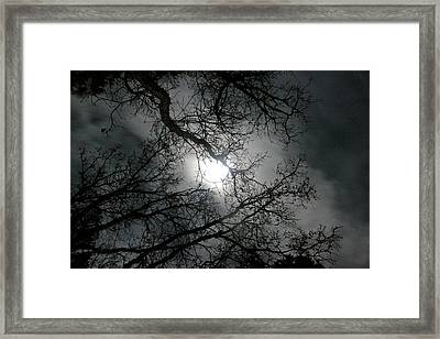 The Moon Prevails  Framed Print by Angie Wingerd