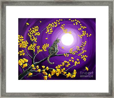 The Moon Shone Upon Me Framed Print by Laura Iverson