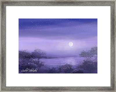 The Moon Will Set Framed Print by Leslie Rhoades