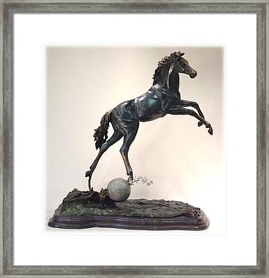 The Moonhorse Bronze Framed Print