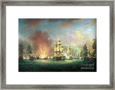 The Moonlight Battle Framed Print by Richard Paton