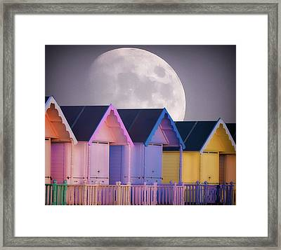 The Moons Glow Framed Print by Martin Newman