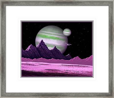 The Moons Of Meepzor Framed Print