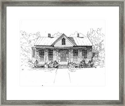 The Moore House Framed Print by Barney Hedrick