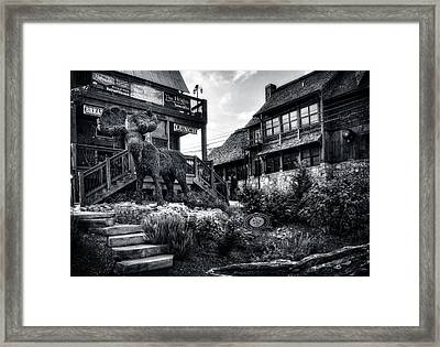 The Moose In Blue Ridge In Black And White Framed Print