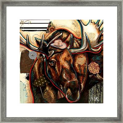 The Moose Framed Print