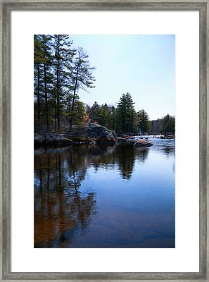 The Moose River In Lyonsdale Framed Print by David Patterson