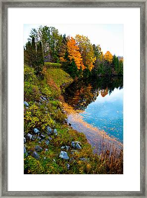 The Moose River In Old Forge New York Framed Print