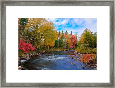 The Moose River On A Beautiful Fall Day Framed Print by David Patterson