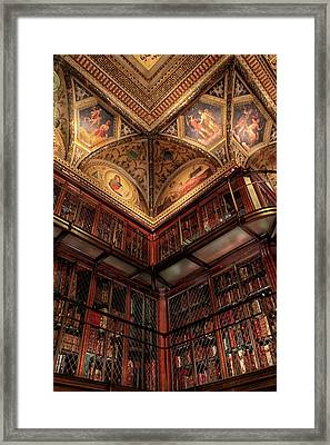 The Morgan Library Corner Framed Print by Jessica Jenney