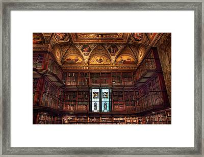 Framed Print featuring the photograph The Morgan Library Window by Jessica Jenney
