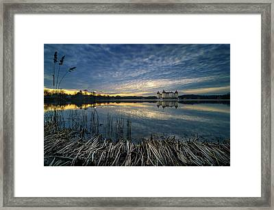 The Moritzburg Castle Is A Baroque Palace In Moritzburg In The German State Of Saxony. Saxony, Germany. Framed Print