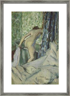 The Morning Bath Framed Print by Edgar Degas