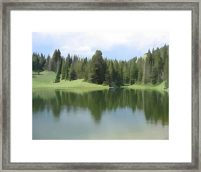Framed Print featuring the digital art The Morning Calm by Gary Baird