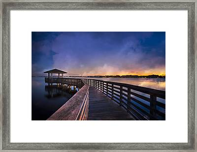 The Morning Dawns Framed Print by Debra and Dave Vanderlaan