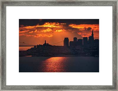 The Morning Fog May Chill The Air, I Don't Care Framed Print by Peter Thoeny