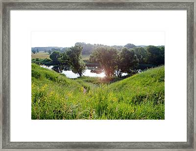 The Morning On The River 3 Framed Print by Anton Popov