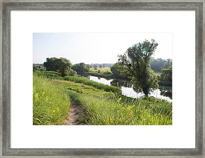The Morning On The River 4 Framed Print by Anton Popov
