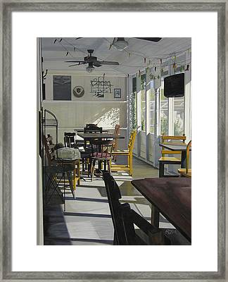 The Morning Paper Framed Print by Rebecca Zook