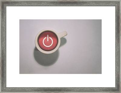 The Morning Power Up Framed Print