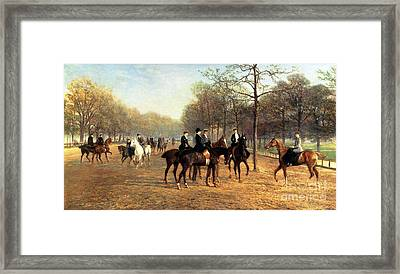 The Morning Ride Rotten Row Hyde Park Framed Print by Heywood Hardy