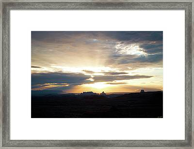 The Morning Streak Framed Print