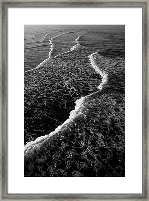 Framed Print featuring the photograph The Morning Waves by Eric Christopher Jackson