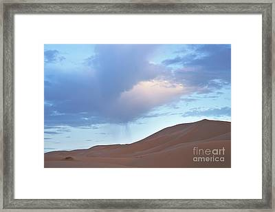 Framed Print featuring the photograph The Moroccan Dunes by Yuri Santin