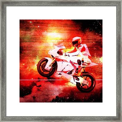 The Morotbike Framed Print by Contemporary Art