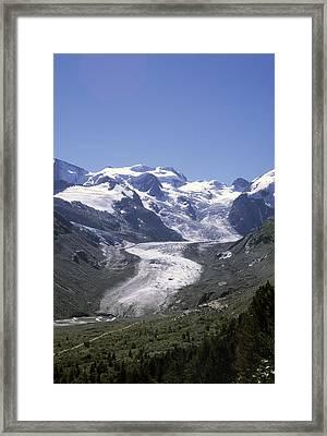 The Morteratsch Glacier Till Framed Print