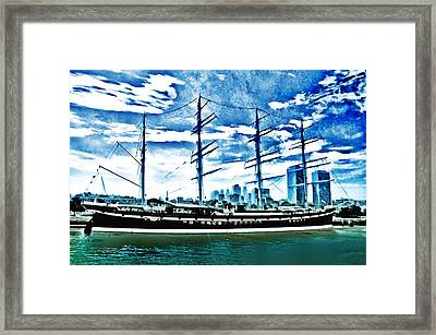The Moshulu Framed Print by Bill Cannon