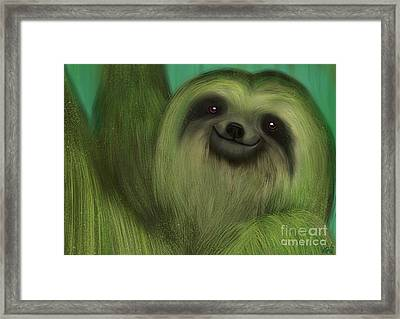 The Mossy Sloth Framed Print by Nick Gustafson