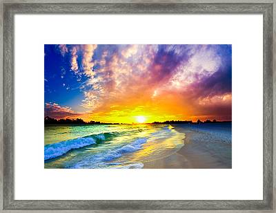 Framed Print featuring the photograph The Most Beautiful Sunset In The World by Eszra Tanner
