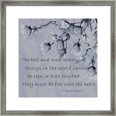 Framed Print featuring the mixed media The Most Beautiful Things In The World by Movie Poster Prints