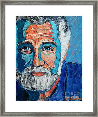 The Most Interesting Man In The World Framed Print by Ana Maria Edulescu