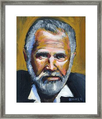 The Most Interesting Man In The World Framed Print by Buffalo Bonker