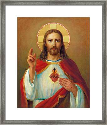 The Most Sacred Heart Of Jesus Framed Print by Svitozar Nenyuk