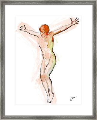 The Most Tempting Man Of All Time Framed Print by Joaquin Abella