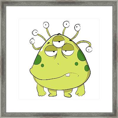 The Most Ugly Alien Ever Empty Background Framed Print