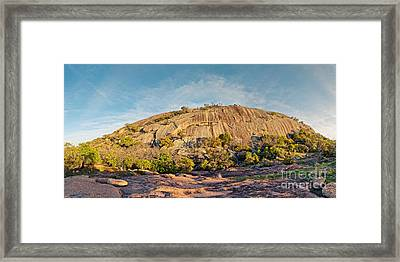 The Mothership Has Landed - Enchanted Rock State Natural Area - Texas Hill Country Framed Print by Silvio Ligutti